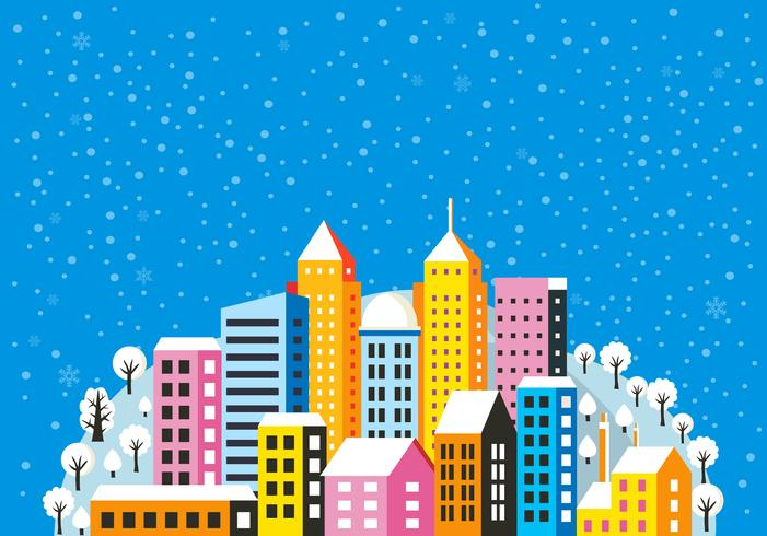 Jul vinterlandskap