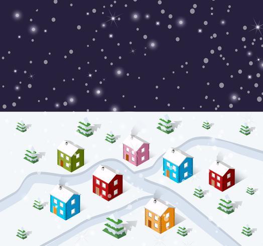 Jul vinter stad bakgrund