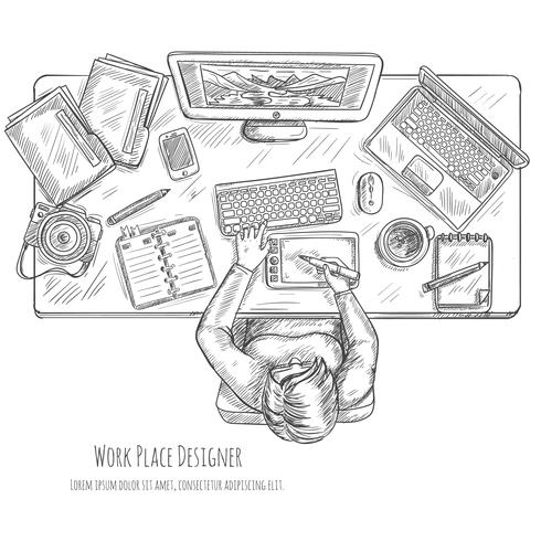 Ontwerper Workplace Sketch