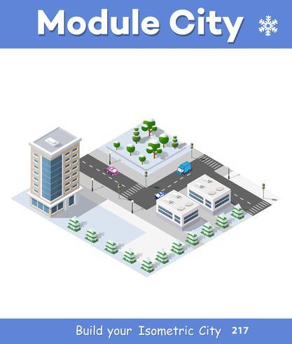 Moduli di quartieri urbani invernali di Natale