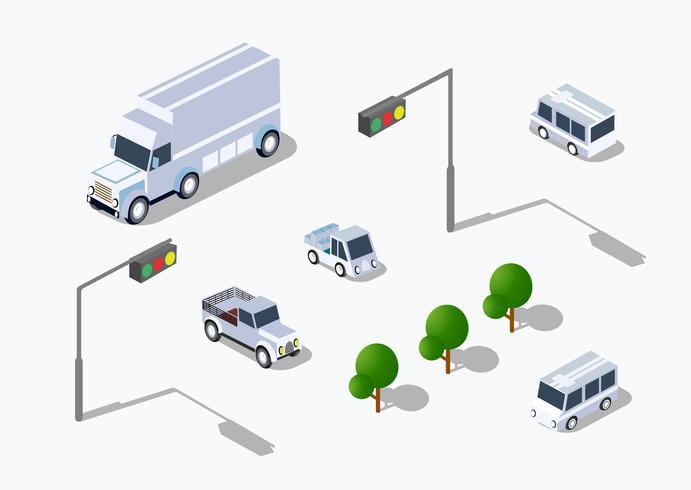 Parking isométrique urbain