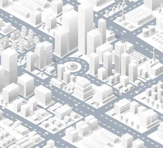 Quartiere urbano della città vettore