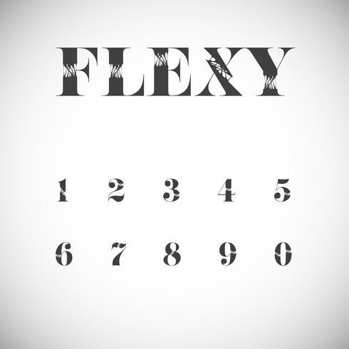 Flexy character set, vector illustration