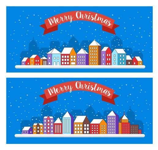 Arredamento di Natale design inverno street vettore