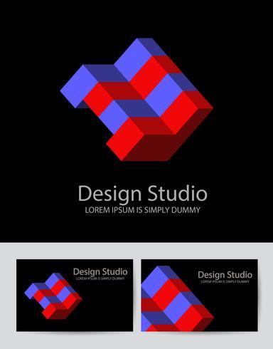 Logotipo isometrico astratto