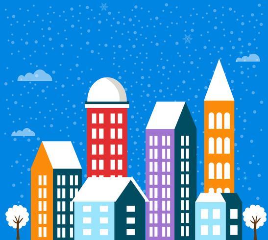 Paisaje de invierno de navidad vector