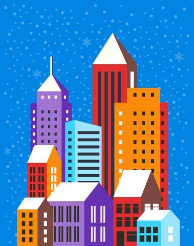 Paesaggio invernale di Natale