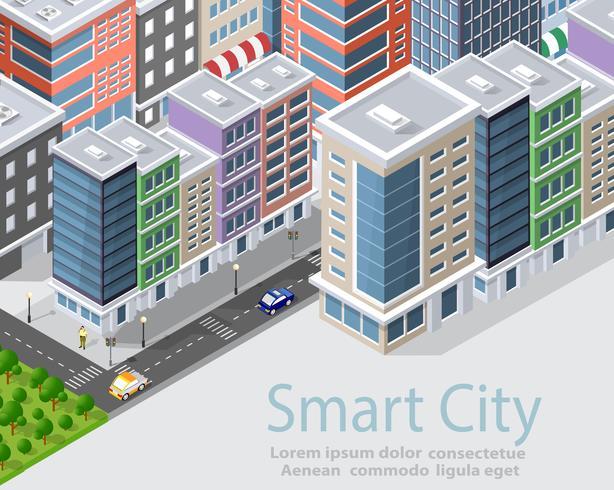 Smart stad isometrisk