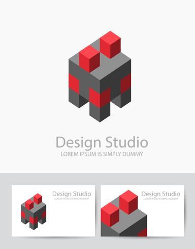 Abstrakt isometrisk logotyp