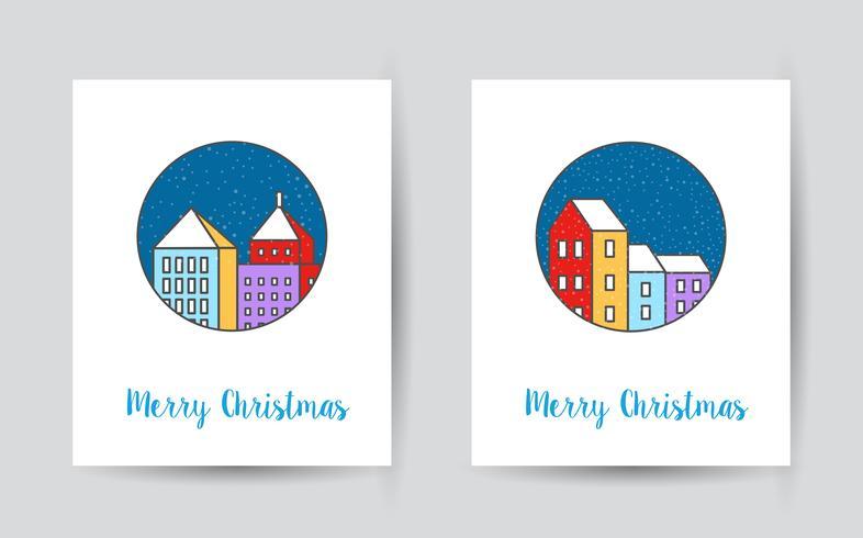 cartolina di natale della città