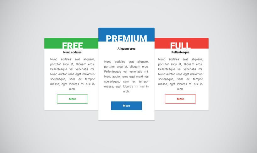 Clean and modern website element, vector illustration