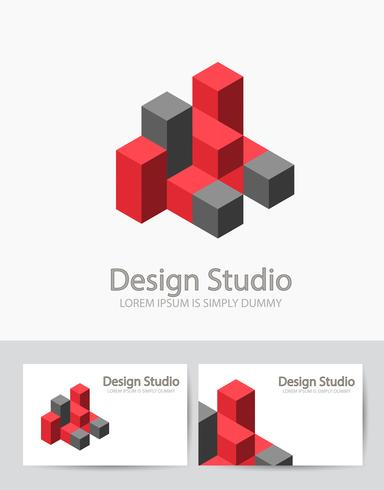 Abstract isometric logo