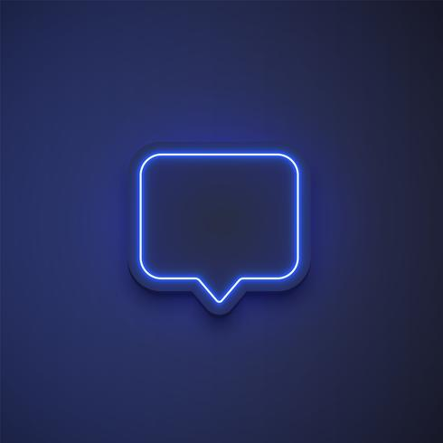 High detailed neon colorful speech bubble. vector illustration