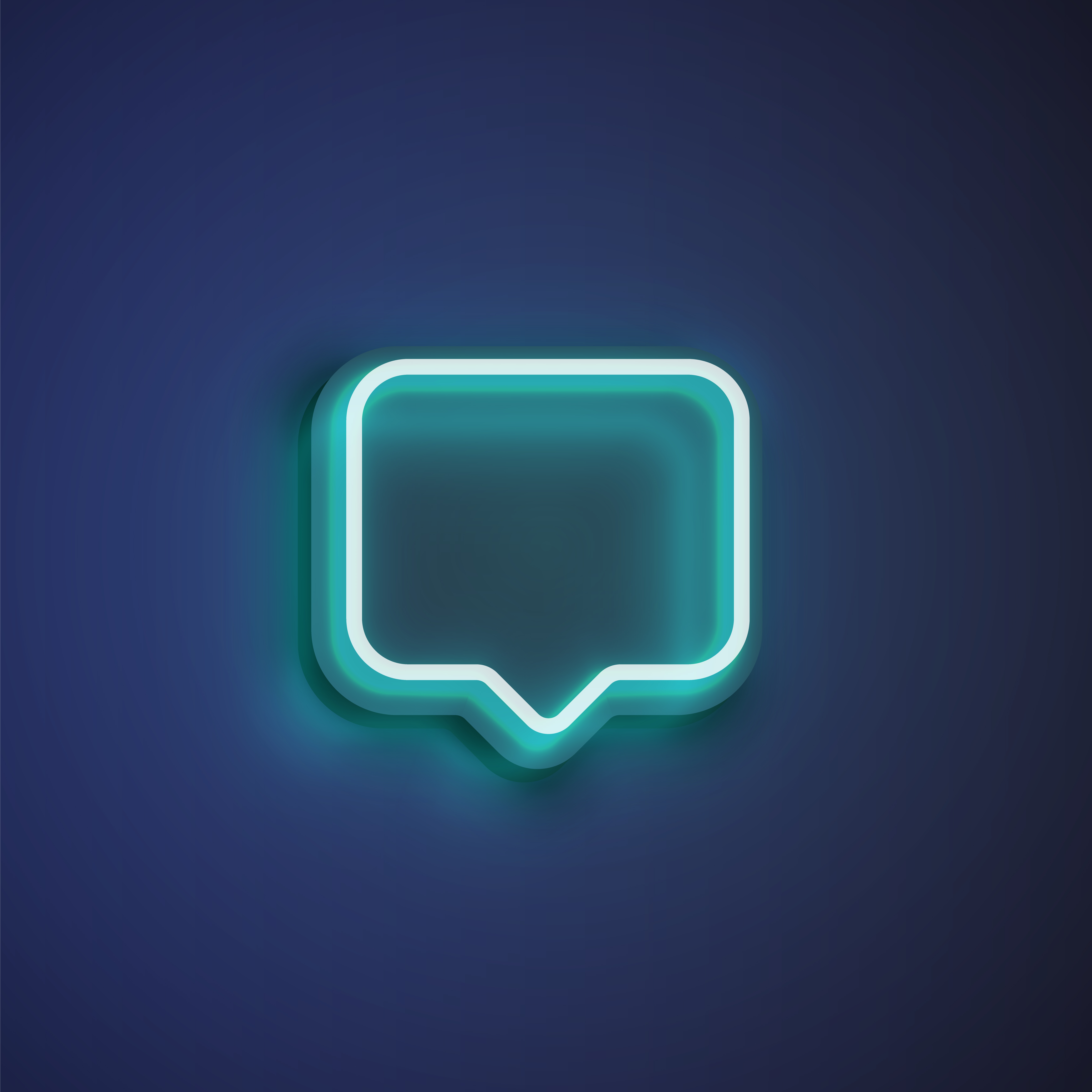 Colorful Abstract Modern Banner: High Detailed Neon Colorful Speech Bubble. Vector