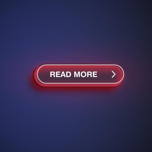 High detailed neon button, vector illustration