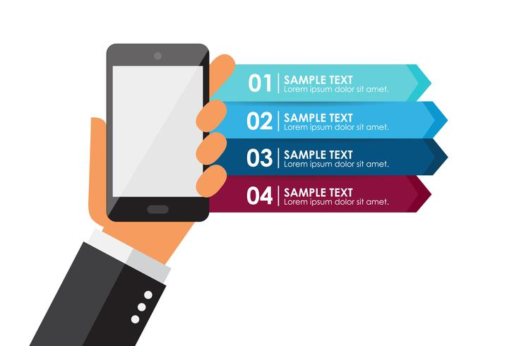 Mobiltelefon-Infografik vektor
