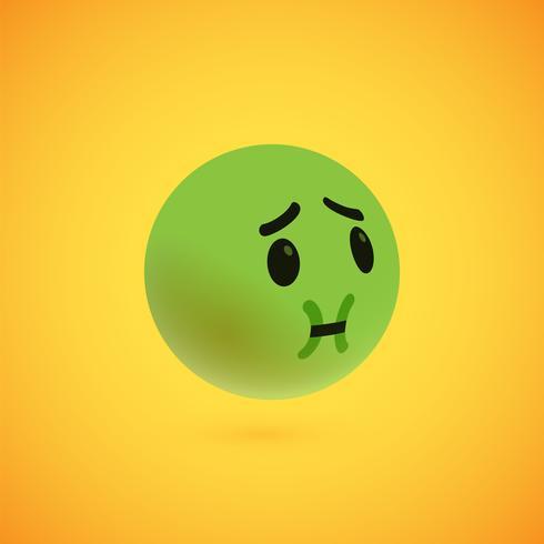 Leuke hoog-gedetailleerde gele 3D emoticon voor Web, vectorillustratie