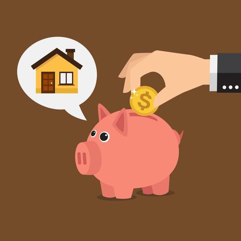 Piggy bank, house