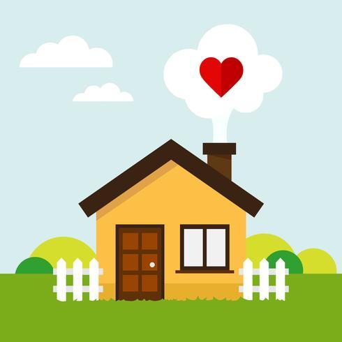 Amour coeur maison
