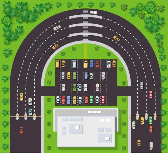 Draufsicht auf Stadtplan vektor