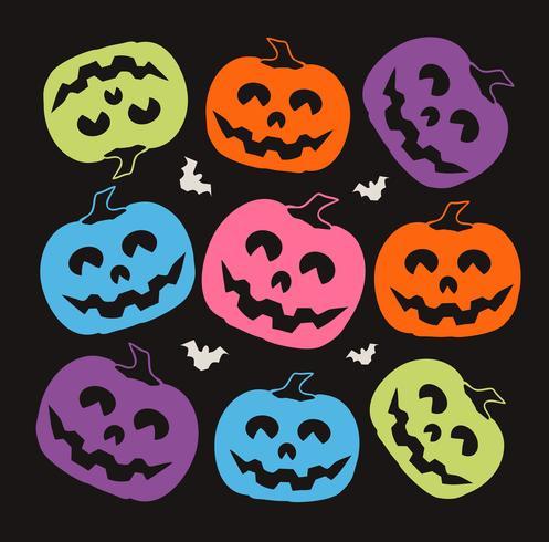 Motif Halloween citrouille