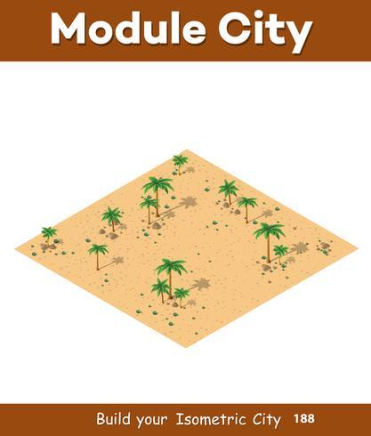 Natural Desert landscape  vector