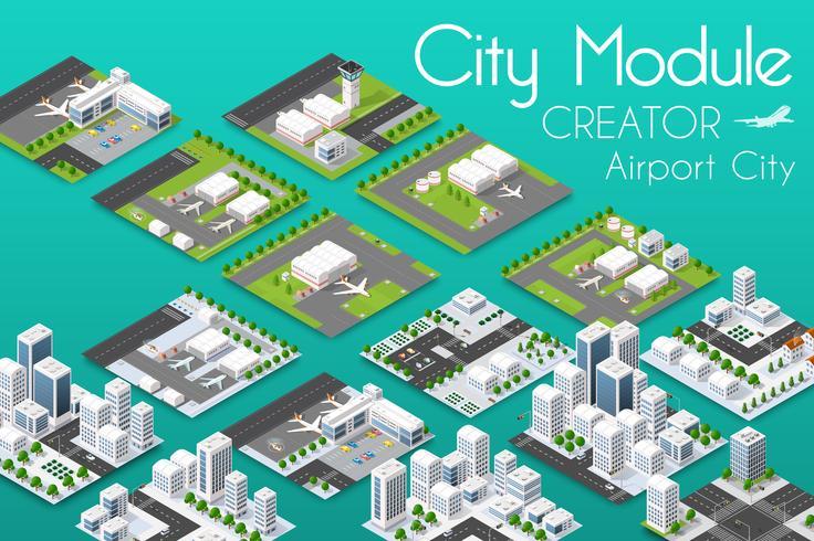 Créateur de module de ville vecteur