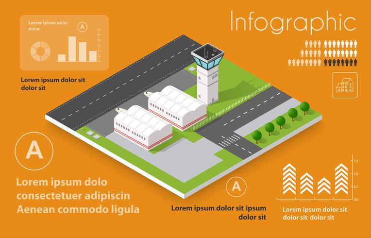 Infografica di voli di trasporto