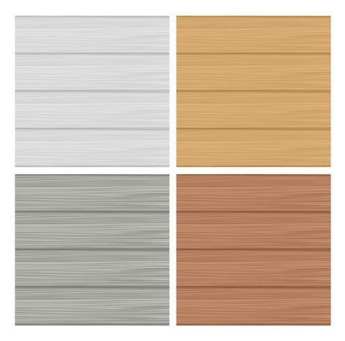 Wooden texture set vector