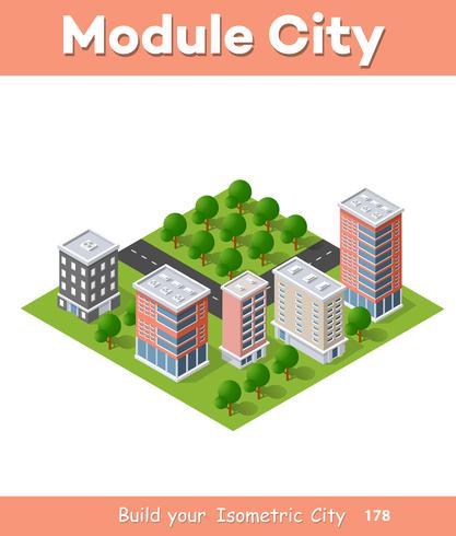 Bezirk der Stadt vektor
