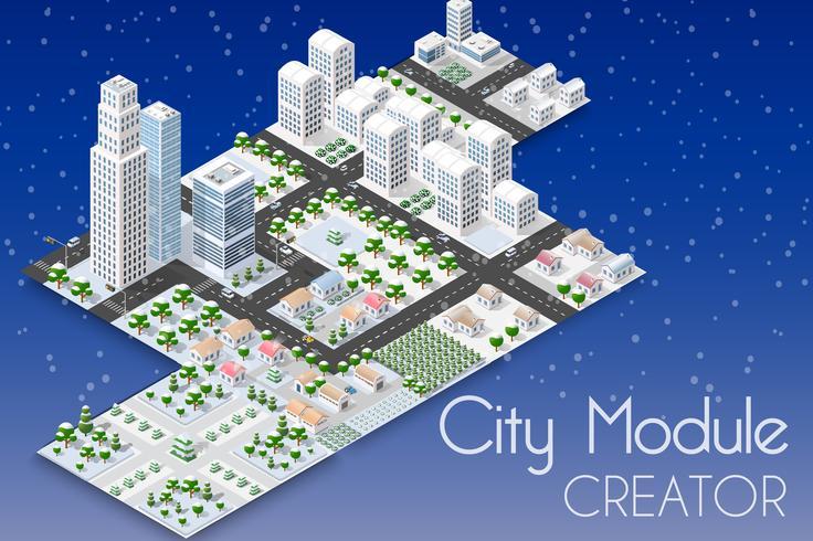 City winter landscape