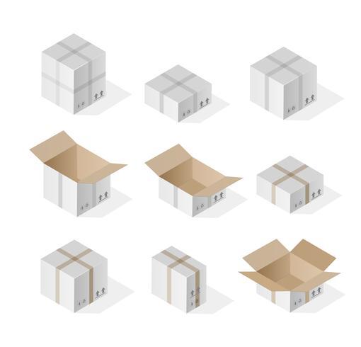 Isometrische Geschenkbox 3D