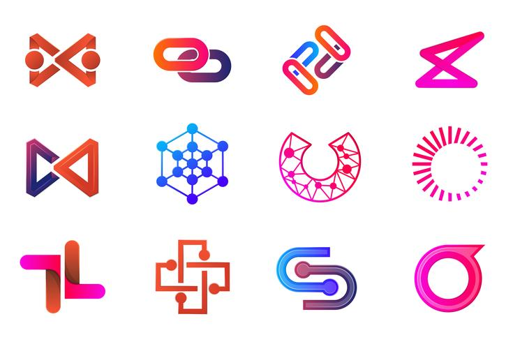 Modern Minimal Vector Logo för banner
