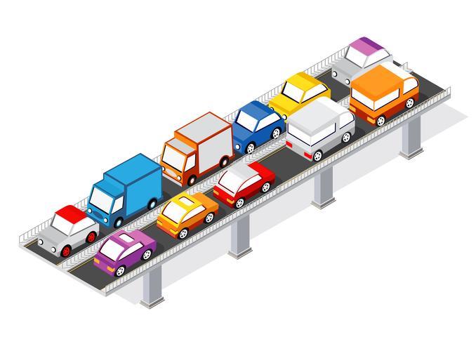 The bridge skyway vector