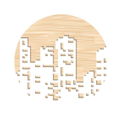 Corte laser de plantillas vector