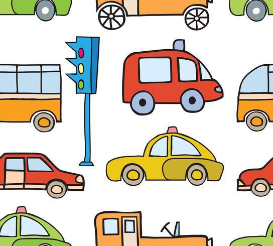 Cartoon auto's naadloos