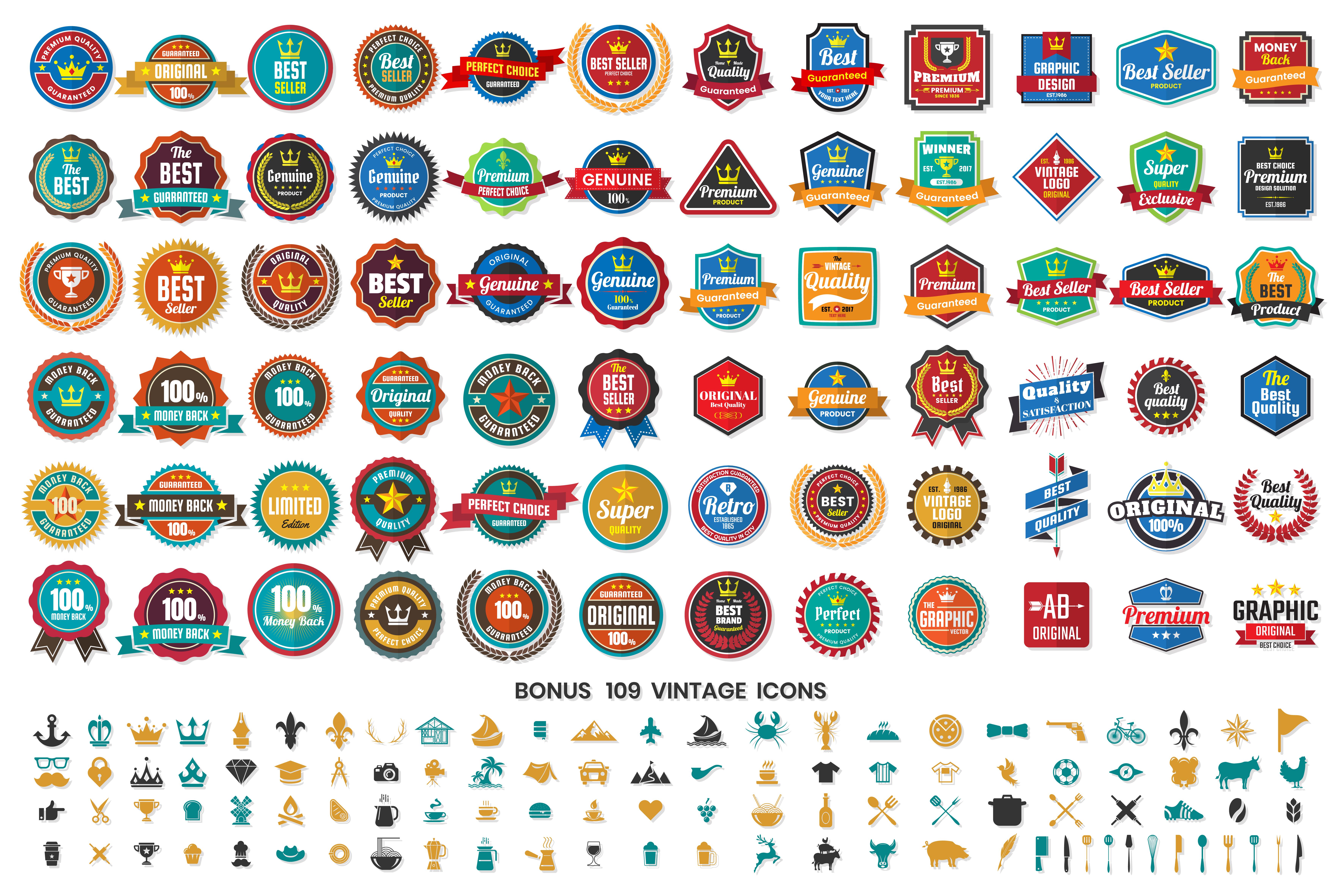 Vintage Retro Vector Logo for banner - Download Free ...