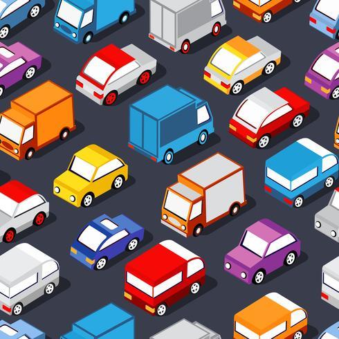 Naadloos patroon van auto's