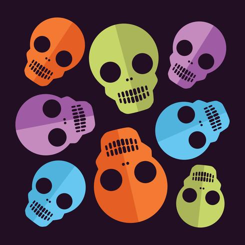 Schedel Halloween-patroonset van decoratief