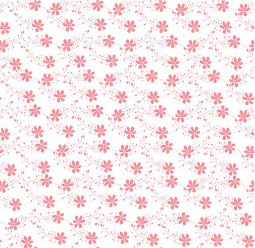 padrão de ornamento floral rosa sem emenda vetor