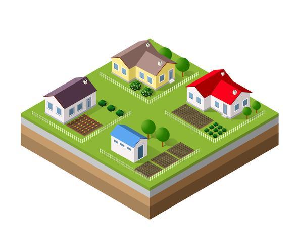 Gårdsuppsättning hus