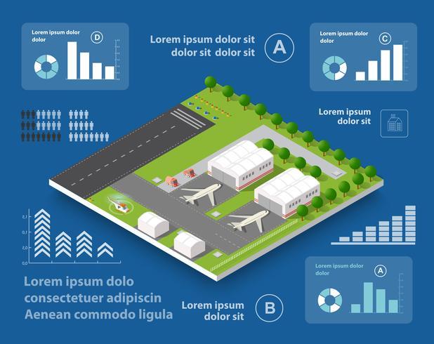 Infographics van transportvluchten