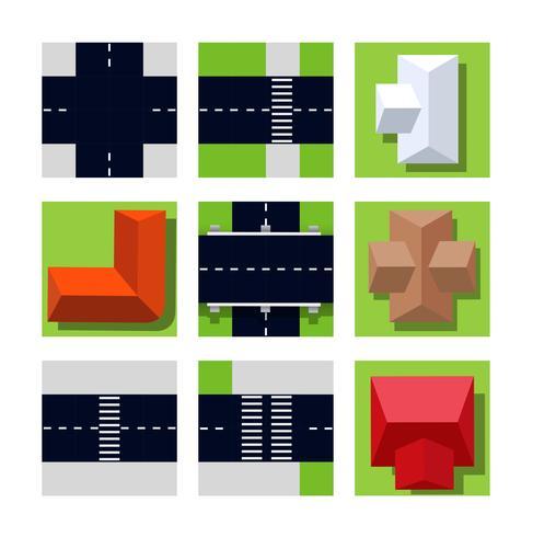 Bovenaanzicht van stadsplattegrond vector