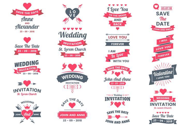 Wedding Retro Vintage Vector Label