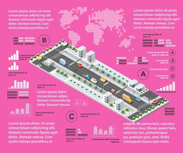 Infografía ilustración púrpura vector