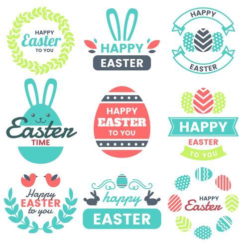 Pâques Logo Vectoriel pour bannière