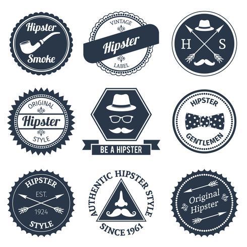 Conjunto de rótulos hipster vetor