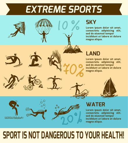 Extreme sports infographic vector