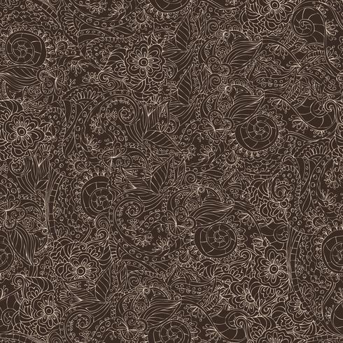 Patrón sin costuras ornamental oscuro vector