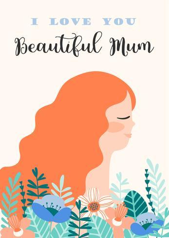 Feliz Dia das Mães. Mulheres e flores. vetor